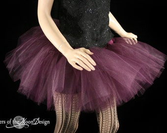 Eggplant Burgundy Adult teen tutu skirt poofy dance ballet roller derby style race run gogo wedding - You Choose Size - Sisters of the Moon