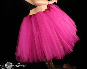 Fuchsia Romance tutu knee length skirt Adult petticoat costume dance bridal wedding party formal -- You Choose Size -- Sisters of the Moon
