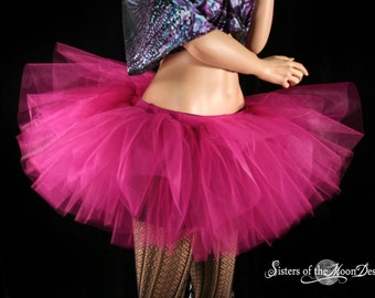 Future Fuchsia tutu adult skirt extra poofy monster costume dance ballet roller derby gothic -- You choose Size -- Sisters of the Moon