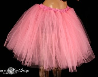 Adult tutu petticoat Paris Pink Romance skirt extra poofy knee length formal bridal wedding prom -You Choose Size - Sisters of the Moon