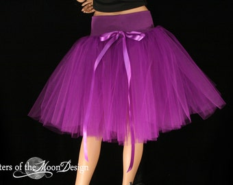 Purple Victorian Romance Tutu skirt extra poofy knee length Adult bridal wedding dance costume -- You Choose Size -- Sisters of the Moon