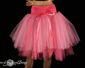 Adult tutu skirt Princess Victorian Romance two tier extra poofy knee length ballet formal costume -- You Choose Size -- Sisters of the Moon