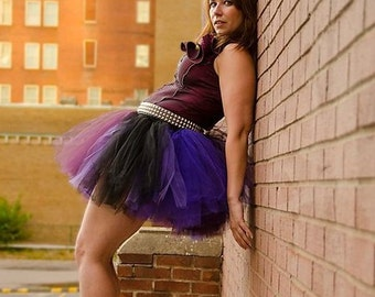 Adult Tutu Pretty Plum Extra puffy dance roller derby style costume --  You Choose Size -- Sisters of the Moon