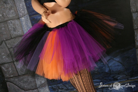 Halloween monster style tutu skirt adult Extra puffy witch dance run roller derby costume -- Your choose Size -- Sisters of the Moon