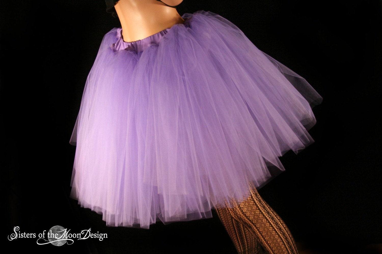 Light Gray Bridesmaid Dresses Knee Length Soft Tulle: Light Purple Romance Dance Tutu Skirt Extra Poofy Knee Length