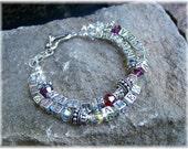 MOTHERS Bracelet Bali Silver Birthstone Bracelet Personalized Keepsake Jewelry Gift for Her Mothers Day