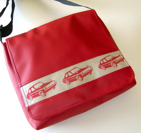 Cars large messenger bag