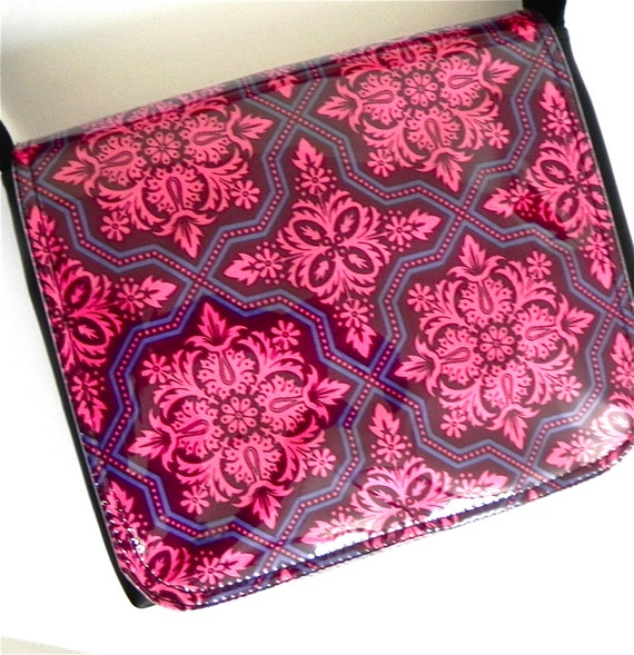 Pink and Purple satchel bag by Missy Mao Mao