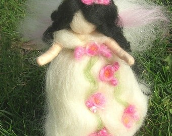 Wool Angel - Needle felted Rose GardenFairy Waldorf inspired