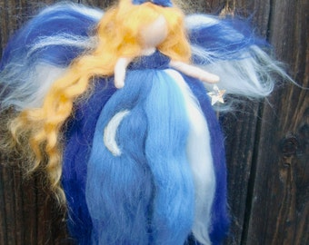 Needle felted Shooting Star Fairy -  Waldorf inspired  Made to Order Angel By Rebecca Varon