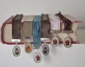 Teal Ribbon Chocolate Cupcake Bookmark