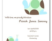 Boy Girl Birth Baby Announcement Card with Envelopes