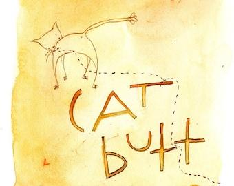 Cat Butt (greeting card)