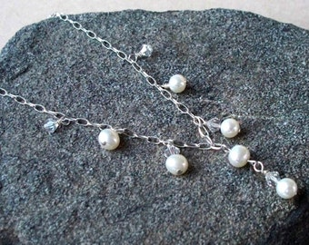 Pearl And Crystal Cascade Necklace