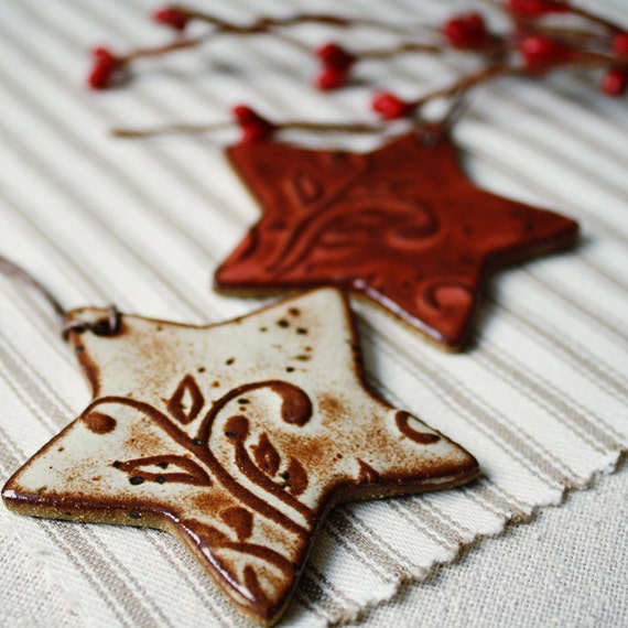 Homemade Christmas Star Ornament: Handmade Ceramic Christmas Ornaments Eco Stars