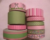 Grosgrain Ribbon Easter Bunny Tail Lot of 10 yards