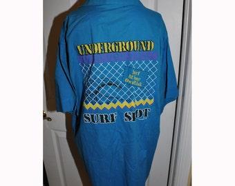Vintage 1980s OP Ocean Pacific Underground Surf Graphic Shirt Large
