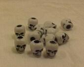 Plastic Skull Beads