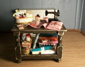 Miniature Filled Sewing Table