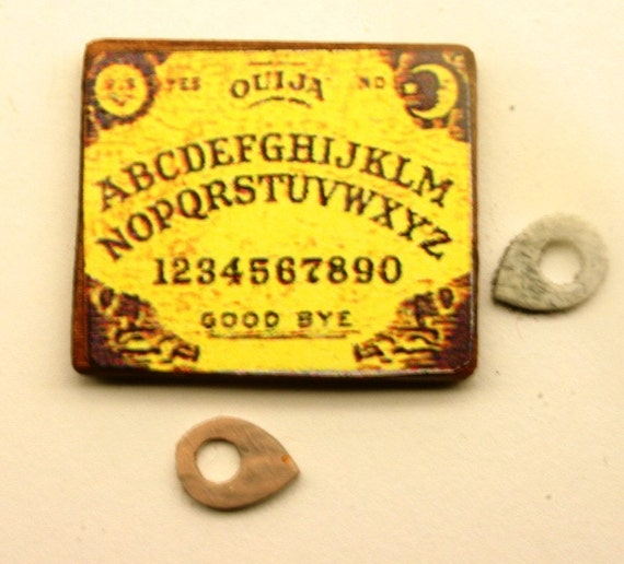Dollhouse Miniature Ouija Board and Pointer