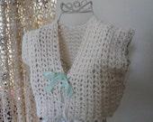 Organic Cotton Vest Wrap Jacket XXS XS Fashion