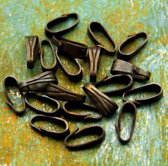 Brass Bails - Hand Antiqued - 12
