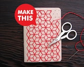 DIY Geometric Pocket Notebook Embroidery Kit Set of Two