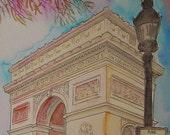 Arc de Triomphe - Print of my original painting