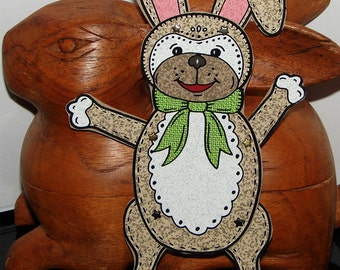 Original Fully Assembled Articutlated Hoppy the Bunny Paper Doll