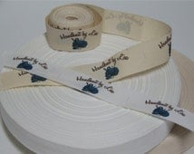Your Custom Labels Printed in Full Color on Organic Cotton Twill Ribbon  - No Extra Charge for Proof - 2 Yards
