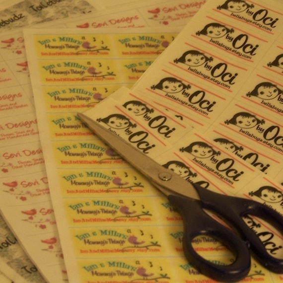 BEST DEAL - Sew-On Fabric Labels - WOW - Four Uncut Sheets at a HUGE Discount - 160 Labels
