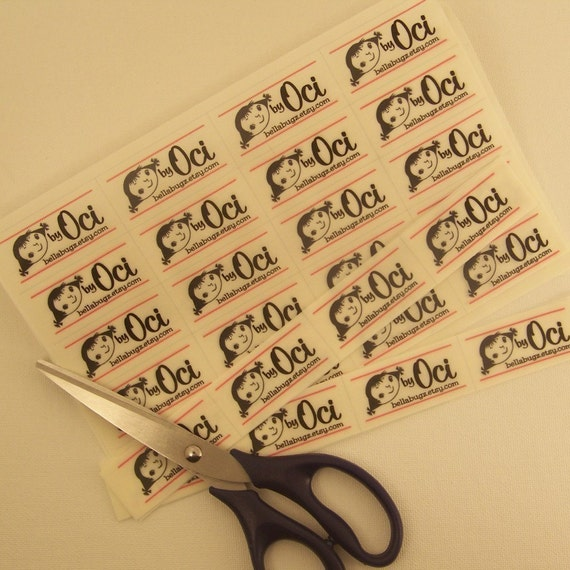 Custom Designed Sew-On Fabric Craft Labels - NOW - Two Uncut Sets at a Discount - 80 Labels
