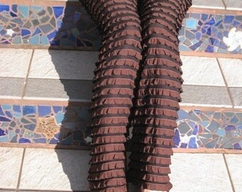 Ruffle Pants  (Chocolate)
