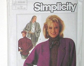 Simplicity 7089 Sewing Pattern - 3 Versions of the same Beautiful Winter Jacket - Size 6,8,10, Vintage Sewing, Wool Suit Jacket Pattern
