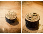 Rustic Natural Wooden Personalized Ring Box with bark on it - EXCLUSIVE CUSTOM ORDER