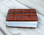 Chocolate Sandwich Notebar - Rosewood Hand Carved Mini Journal - Notebook by Tanja Sova
