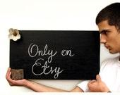 Wooden Minimalist Rustic Charming Chalk Board by Tanja Sova