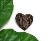 Treehugger heart - Rustic Natural Bradford Pear Wood Bark Brooch or Boutonnière by Tanja Sova