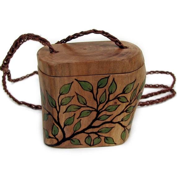 Natural Rustic Original Wooden Pill - Trinket - Necklace Box by Tanja Sova