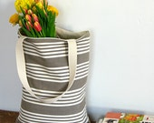 Vintage French Stripe Market Tote