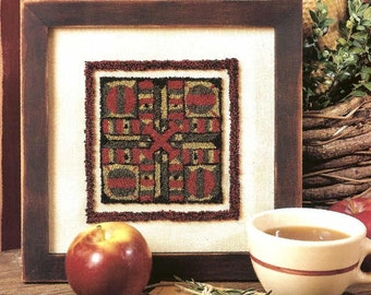 Punch Needle PATTERN on Weavers Cloth - Parchessi Game Board