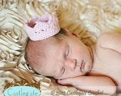 Newborn Crown Photo Prop - Pink Spark