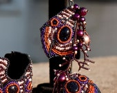 Batterfly Effect bead embroidered earrings