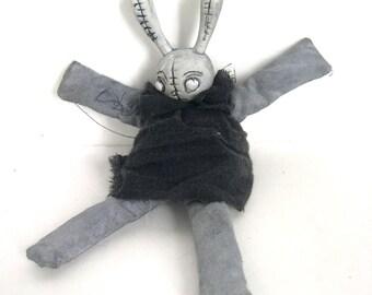 Bunny goth doll accesory bjd halloween easter rabbit artist made