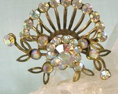 Iridescent Rhinestone Fan