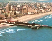 Atlantic City Photo Postcard 1960 Aerial View