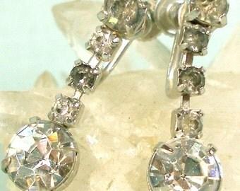 Simple Elegance Rhinestone Drop Earrings