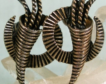 Cornucopia Circle Earrings