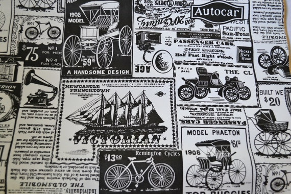 Vintage Shelf Liner, Newspaper Ad Advertisement Style, Self-Adhesive Vinyl Contact Paper Roll