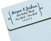 CUSTOM ADDRESS STAMP with proof from usa, Eco Friendly Self-Inking stamp, rsvp address stamp, custom stamp, custom address stamp - Name36
